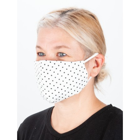 Jayley Spot Print Face mask - Off-White