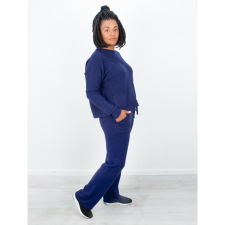 Amazing Woman  Jogger Supersoft Knit Wide Leg Lounge Pant  - Blue