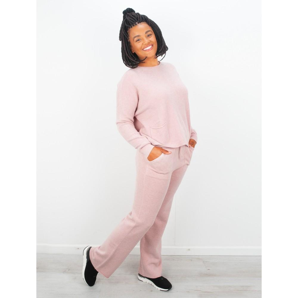 Amazing Woman Jogger Supersoft Knit Wide Leg Lounge Pant  Antique Rose