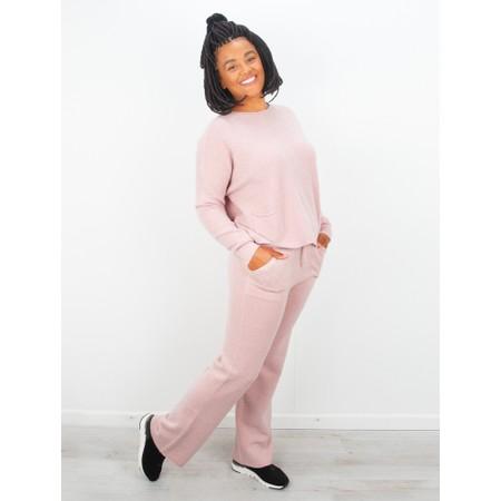 Amazing Woman  Jogger Supersoft Knit Wide Leg Lounge Pant  - Pink