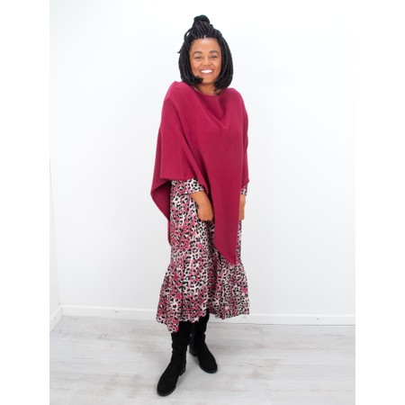 Amazing Woman  Poncho in Supersoft Knit  - Purple