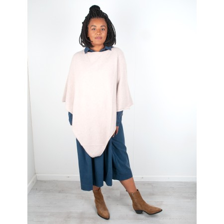 Amazing Woman Poncho in Supersoft Knit  - Beige