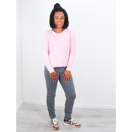 Van Kukil Cashmere Scoop Neck Jumper - Pink