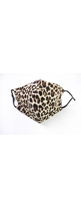 Jayley Leopard Print Face mask MKBD14A-04 Choc Leo