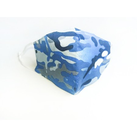 Jayley Camo Print Face Mask - Blue