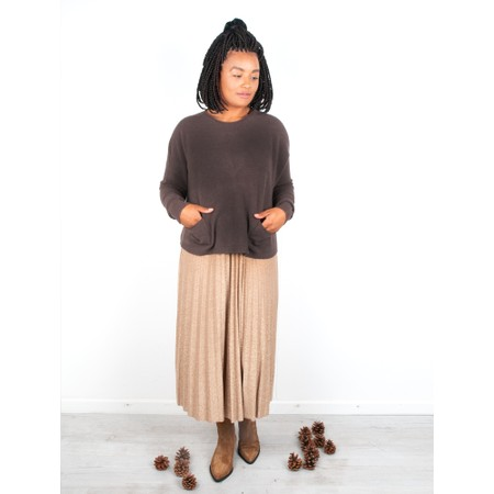 Amazing Woman  Jodie Front Pocket Supersoft Knit Jumper - Brown