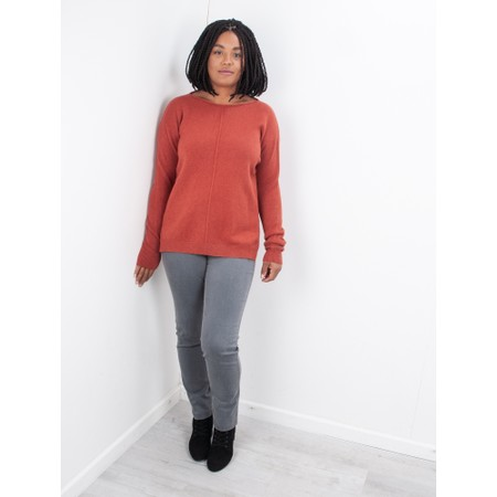 Amazing Woman  Maggie Seam Front Supersoft Jumper - Red