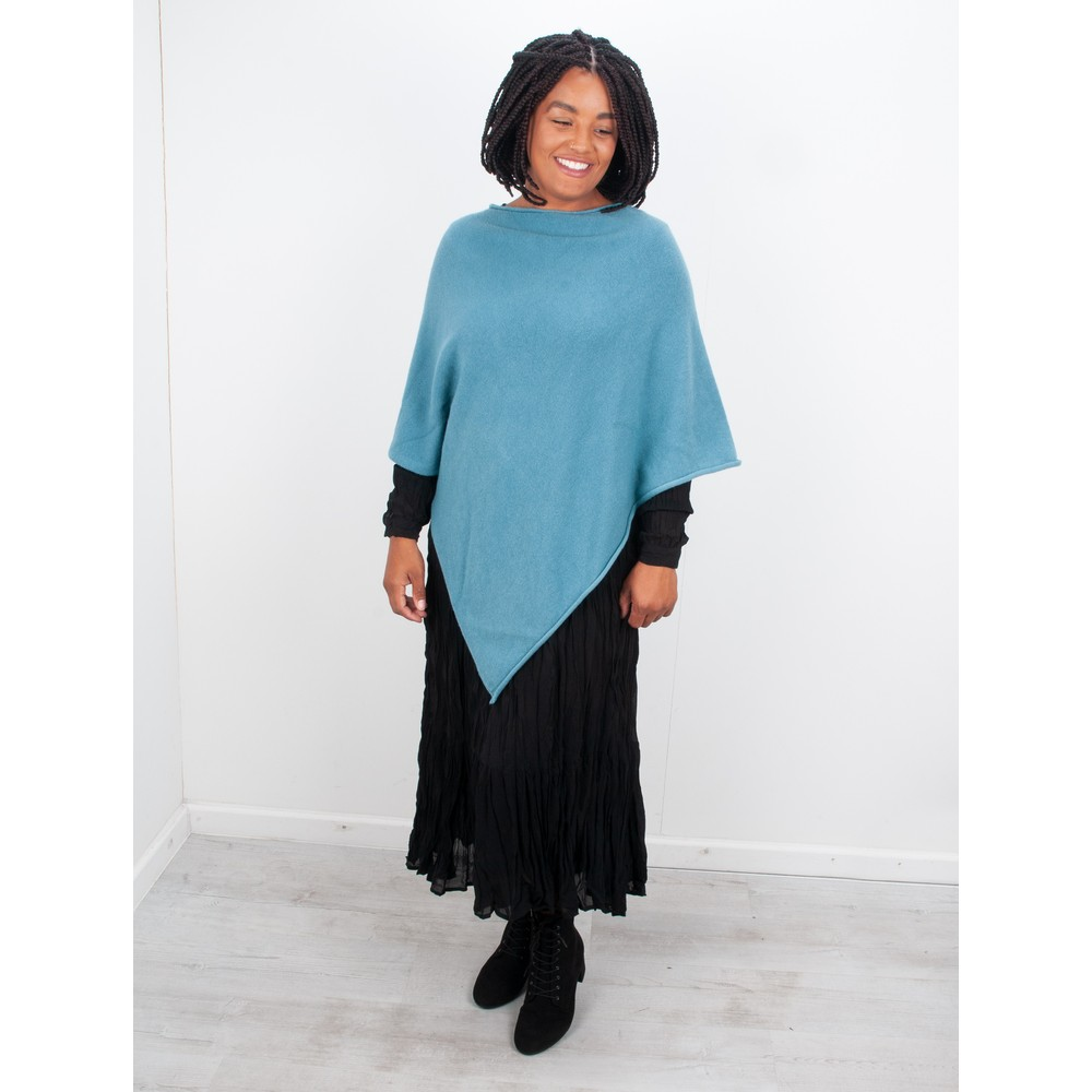 Amazing Woman Poncho in Supersoft Knit  Petrol