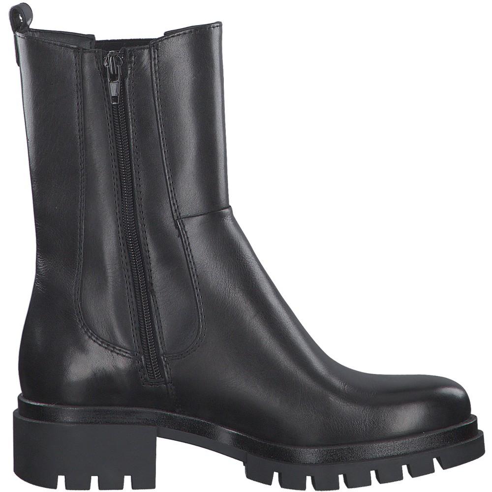 Tamaris Denize Biker Style Chelsea Boot Black