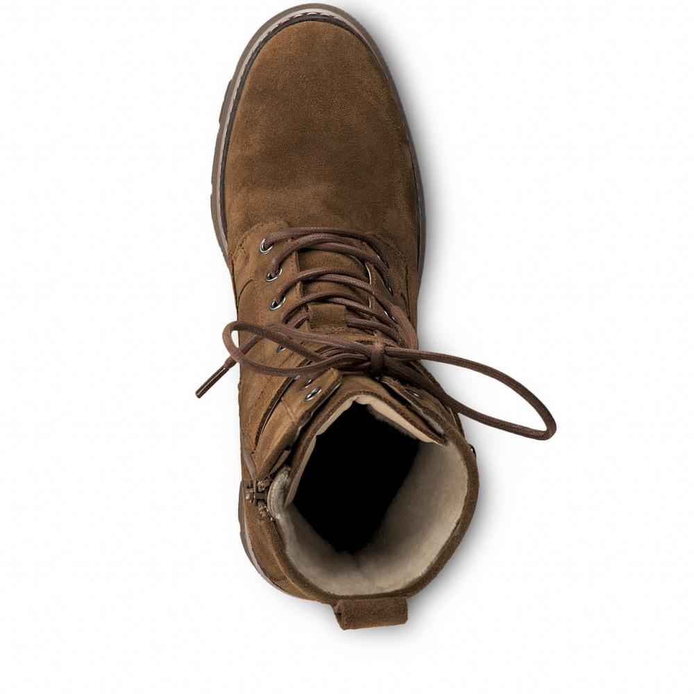 Tamaris  Liliana High Leg Hiker Boot Tobacco