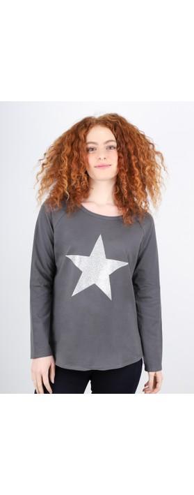Chalk Tasha Star Top Charcoal / Silver Glitter