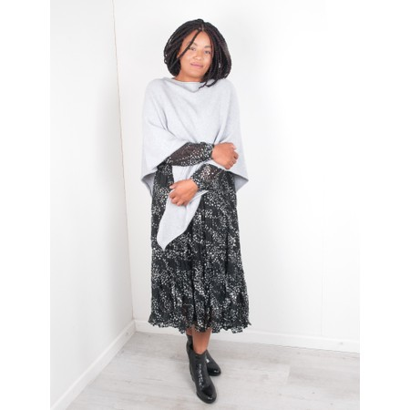 Amazing Woman Poncho in Supersoft Knit  - Metallic