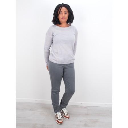 Foil Simple Interest Merino Pocket Sweater - Grey