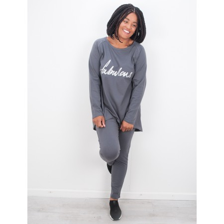 Chalk Gemini Exclusive ! Robyn Fabulous Top - Grey