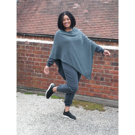 Amazing Woman Poncho in Supersoft Knit  - Grey