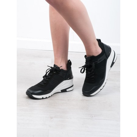 Caprice Footwear Lou  Lace Front Trainer Shoe - Black