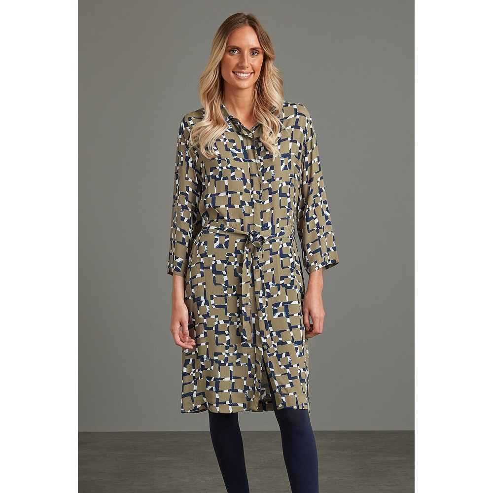 Adini Hilary Shirt Dress Khaki