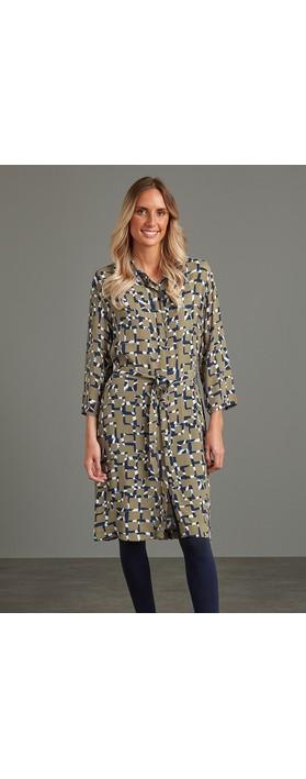 Adini Hilary Shirt Dress Khaki