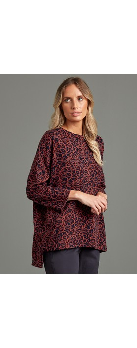 Adini Beverley Tunic Top Scarlet Red