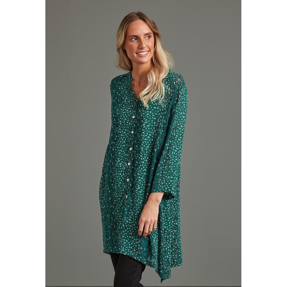 Adini Avril Button Through Tunic Emerald