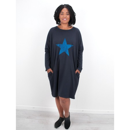 Chalk Brody Star Dress - Blue