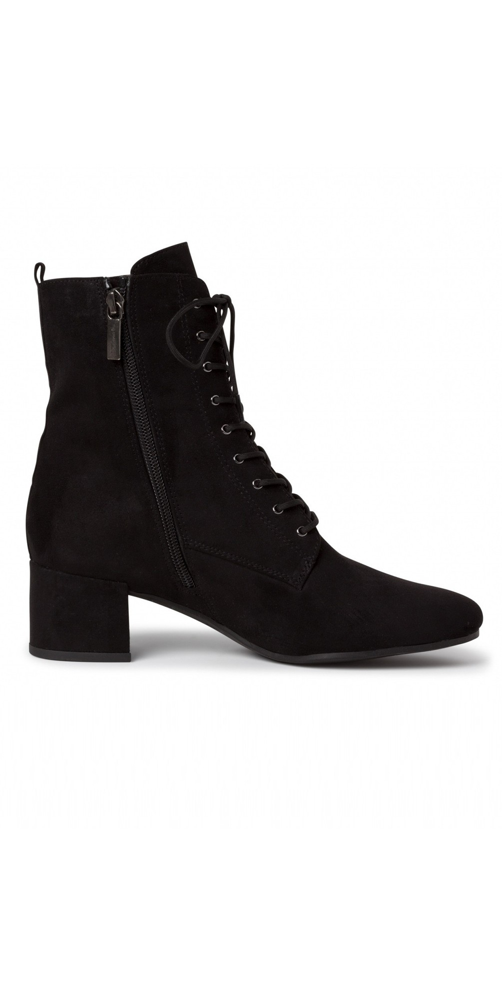 Cika Lace Front Faux Suede Ankle Boot main image
