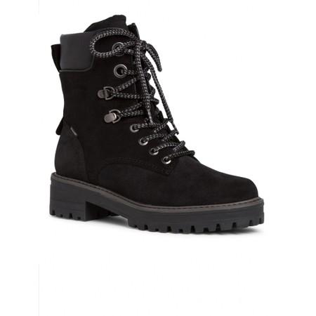 Tamaris  Annika Suede Hiker Boot - Black