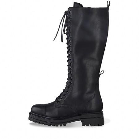 Tamaris Tris Biker Long lace Front Boot - Black