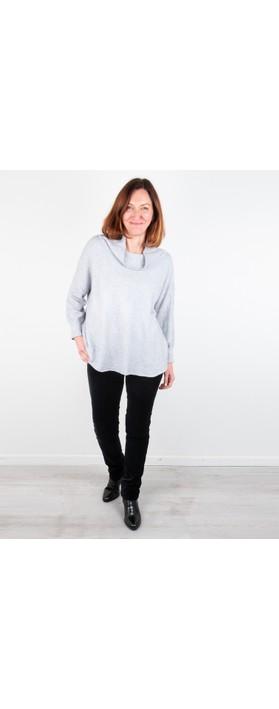 Amazing Woman Vera Oversized Knit Jumper Silver Marl