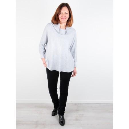 Amazing Woman  Vera Oversized Knit Jumper - Grey