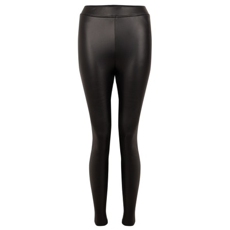 Amazing Woman Stella Faux Leather Leggings - Black