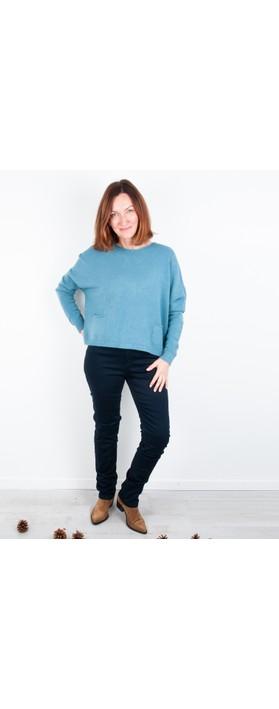 Amazing Woman 02 Guapa Straight Leg Slim Fit Jean Indigo
