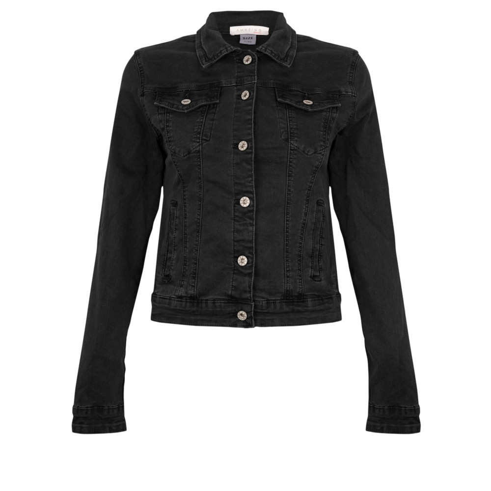 Amazing Woman Maree Western Jacket Black
