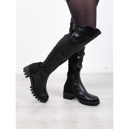 Tamaris  Rbulo 50-50 Long Stretch Long Boot - Black