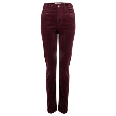 Amazing Woman  02 Cord Straight Leg Jean - Purple