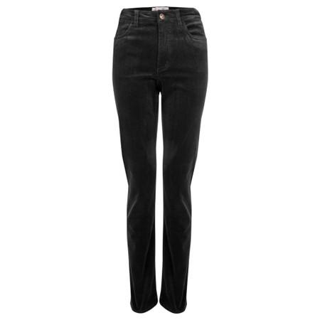 Amazing Woman  02 Cord Straight Leg Jean - Black
