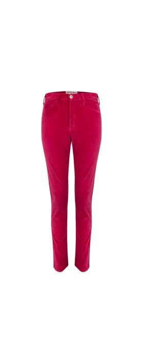 Amazing Woman  02 Velvet Straight Leg Jean Raspberry