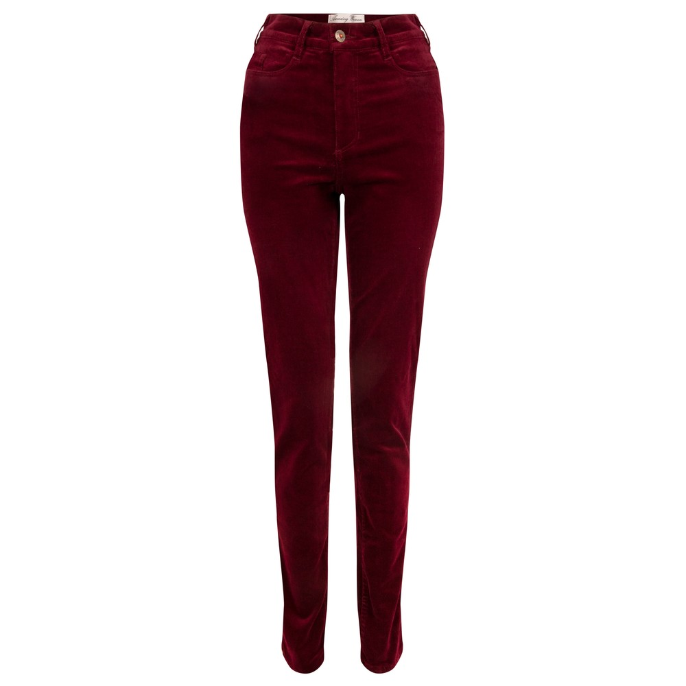 Amazing Woman  11 Cord Mid Rise Jean Claret