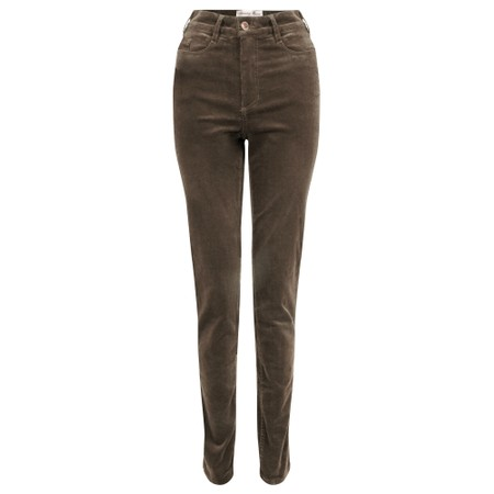 Amazing Woman  11 Cord Mid Rise Jean - Brown