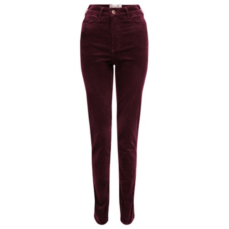 Amazing Woman  11 Cord Mid Rise Jean - Purple