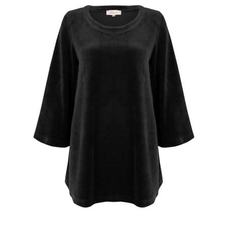 Sahara Velvet Jersey Top - Black