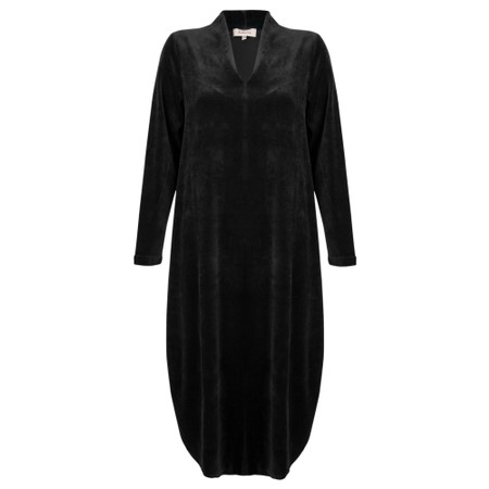 Sahara Velvet Jersey Dress  - Black