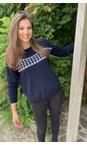 Luella Navy / Silver Lizzie Cashmere Blend Jumper with Stars