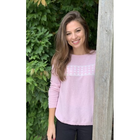 Luella Lizzie Cashmere Blend Jumper with Stars - Pink