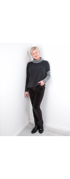 Amazing Woman  02 Velvet Straight Leg Jean Chocolate Brown