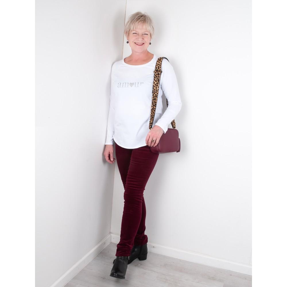 Chalk Tasha Amour Top - Gemini Exclusive  White / Silver Glitter