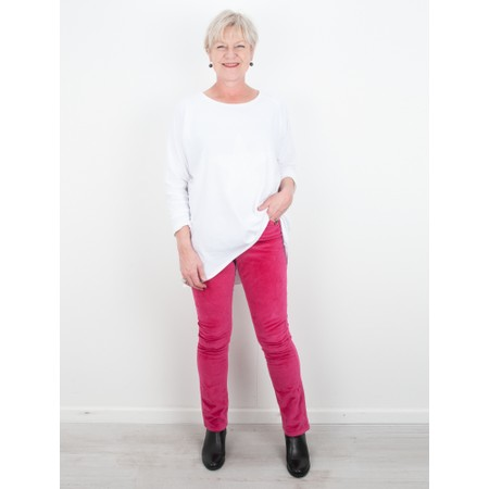 Amazing Woman  02 Velvet Straight Leg Jean - Pink
