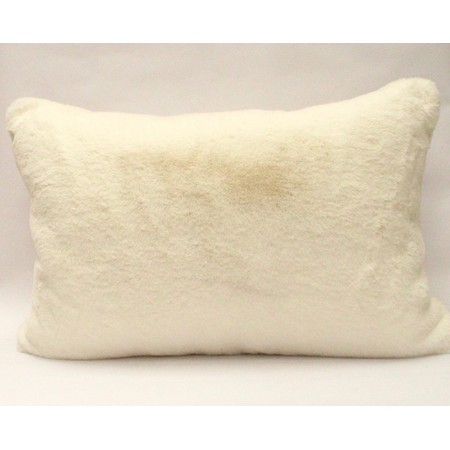 Chalk Doris Luxury Faux Fur Cushion - Off-White