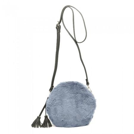 Gemini Label Bags Nala Faux Fur Round Bag - Blue