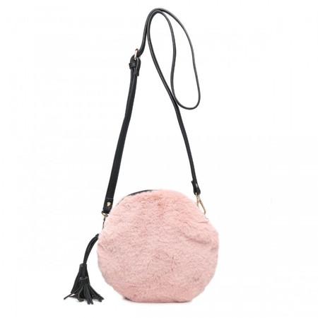 Gemini Label Bags Nala Faux Fur Round Bag - Pink
